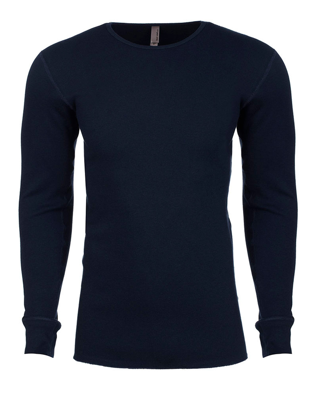 Midnight Navy - N8201 Next Level Adult Long-Sleeve Thermal | BlankClothing.ca