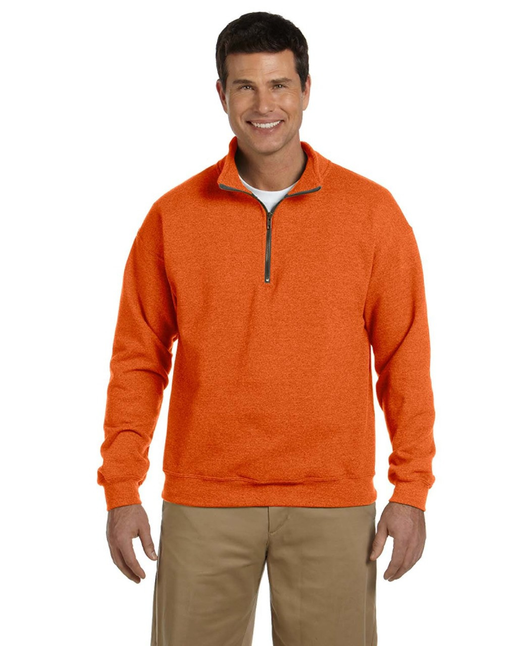 Orange -  G188 Gildan Heavy Blend™ Adult 13.3 oz./lin. yd. Vintage Cadet Collar Sweatshirt | BlankClothing.ca