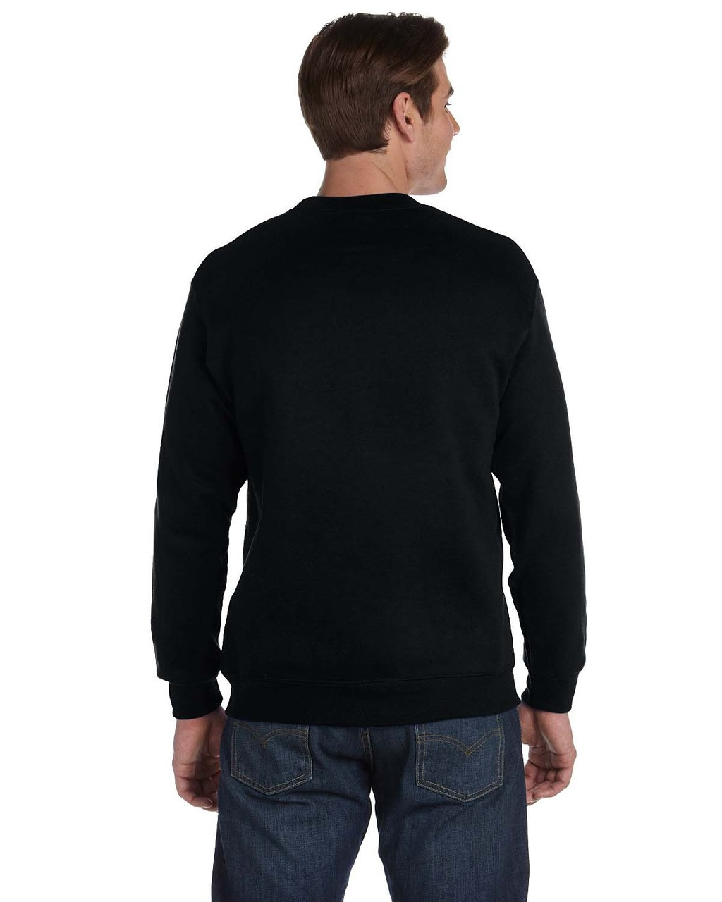 Black - G120 Gildan DryBlend® Adult 15 oz./lin. yd., 50/50 Fleece Crewneck Sweatshirt | BlankClothing.ca