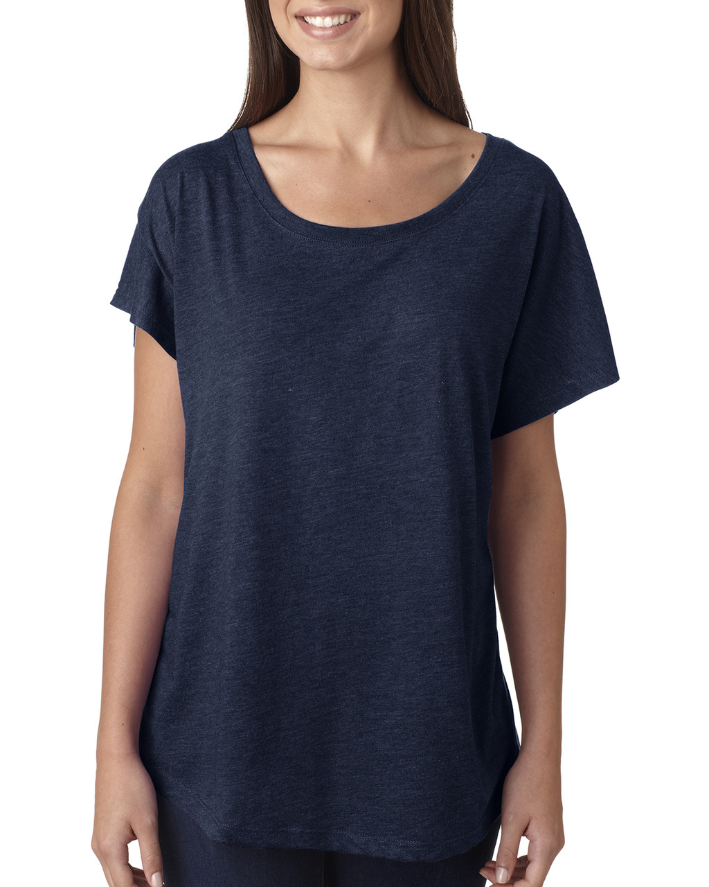 Vintage Navy - 6760 Next Level Ladies' Triblend Dolman Shirt | BlankClothing.ca