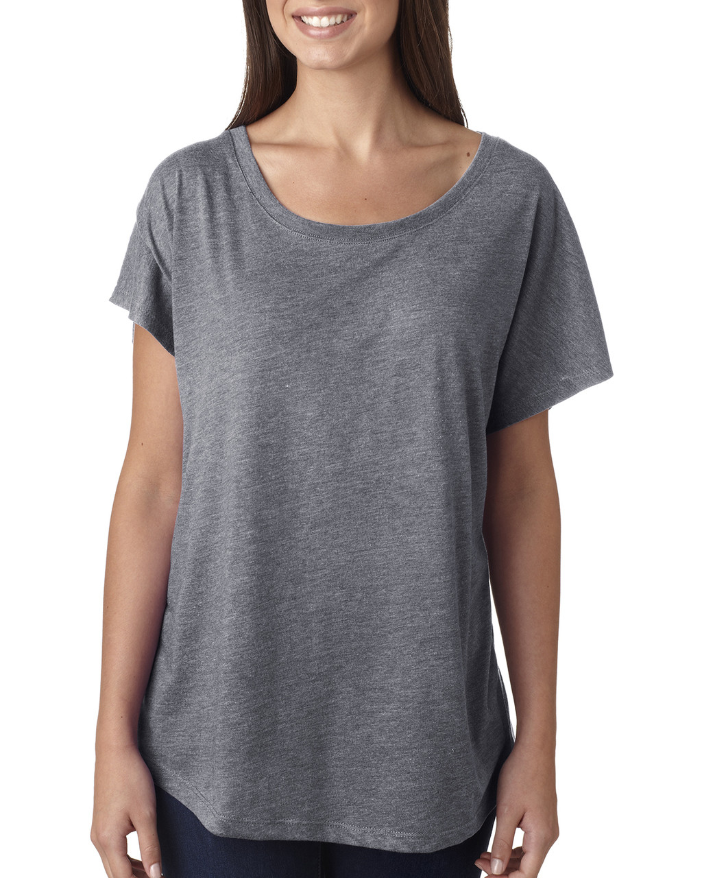 Premium Heather -  6760 Next Level Ladies' Triblend Dolman Shirt | BlankClothing.ca