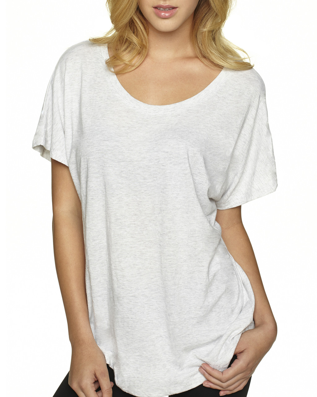 Heather White -  6760 Next Level Ladies' Triblend Dolman Shirt | BlankClothing.ca
