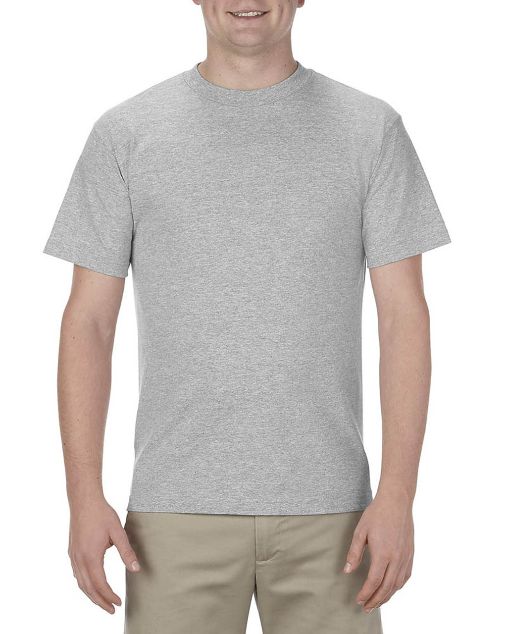 Athletic Heather - AL1301 Alstyle Adult 6.0 oz., 100% Cotton T-Shirt   BlankClothing.ca