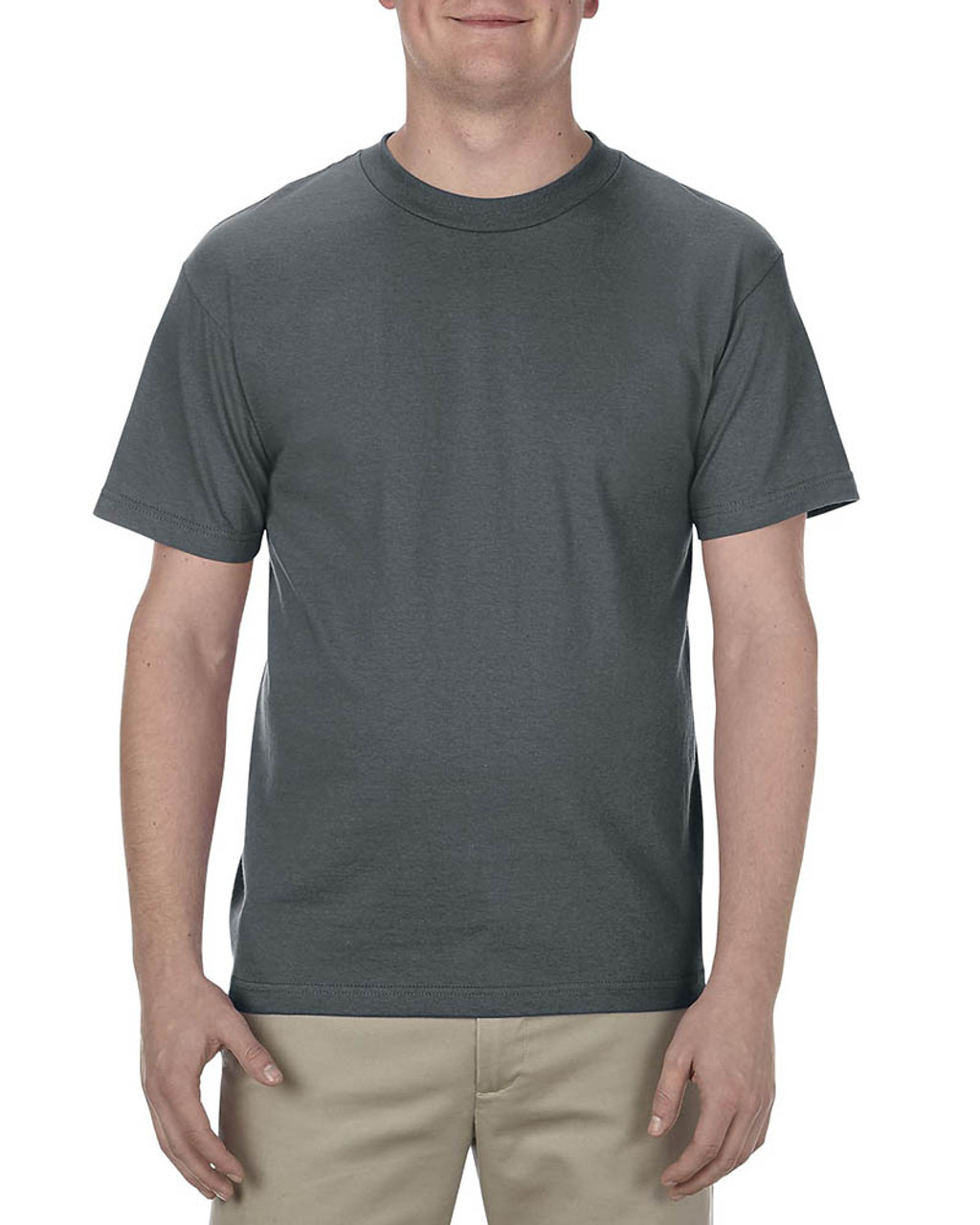 Charcoal - AL1301 Alstyle Adult 6.0 oz., 100% Cotton T-Shirt   BlankClothing.ca