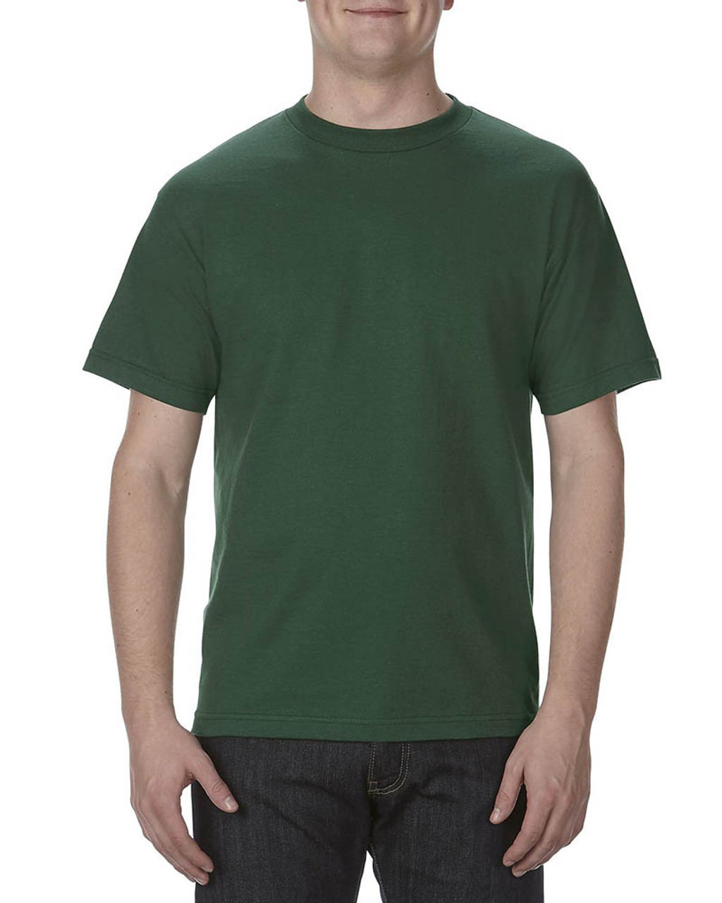 Forest Green - AL1301 Alstyle Adult 6.0 oz., 100% Cotton T-Shirt   BlankClothing.ca
