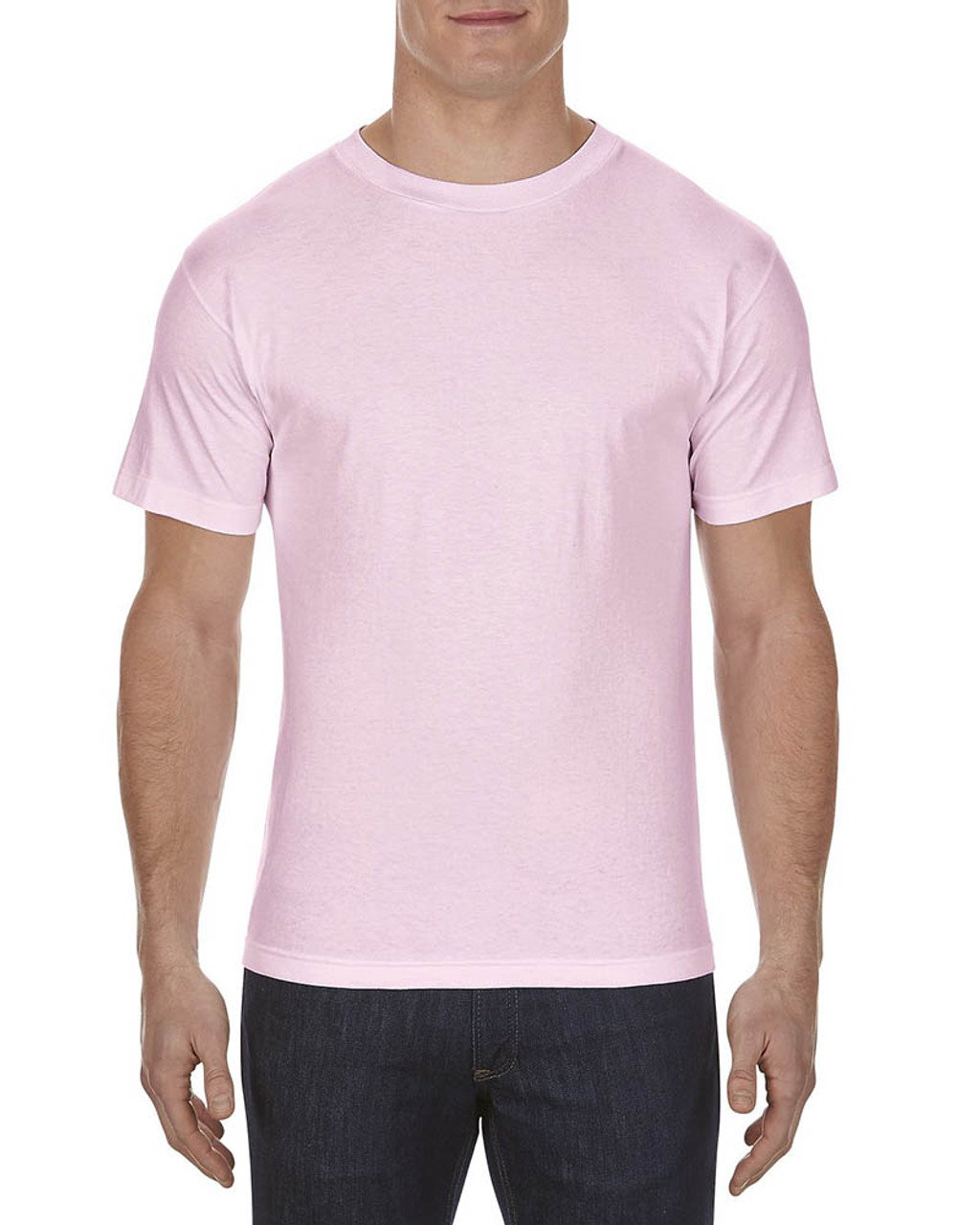 Pink - AL1301 Alstyle Adult 6.0 oz., 100% Cotton T-Shirt   BlankClothing.ca