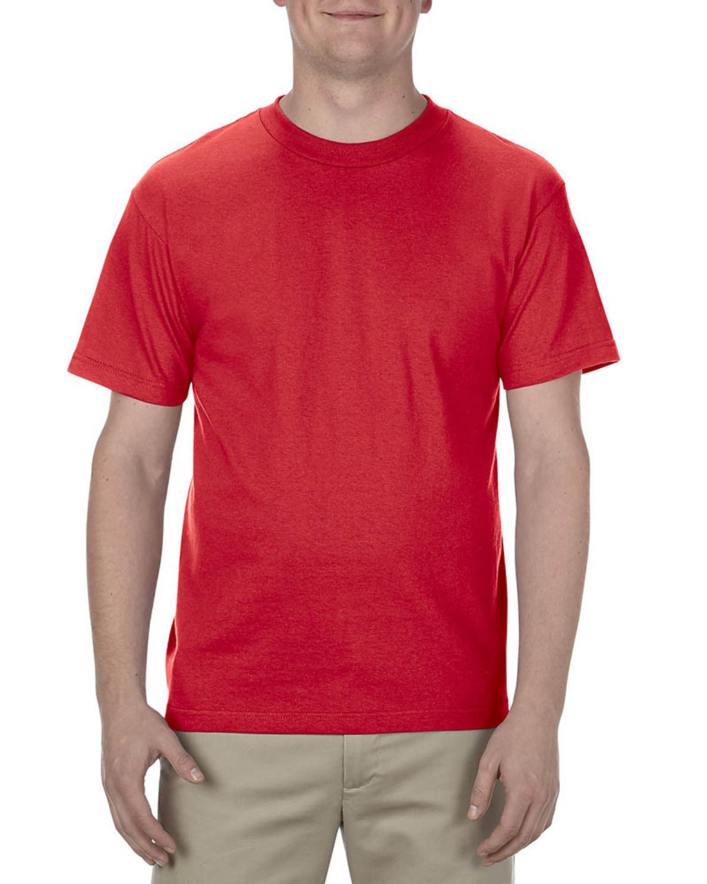 Red - AL1301 Alstyle Adult 6.0 oz., 100% Cotton T-Shirt   BlankClothing.ca