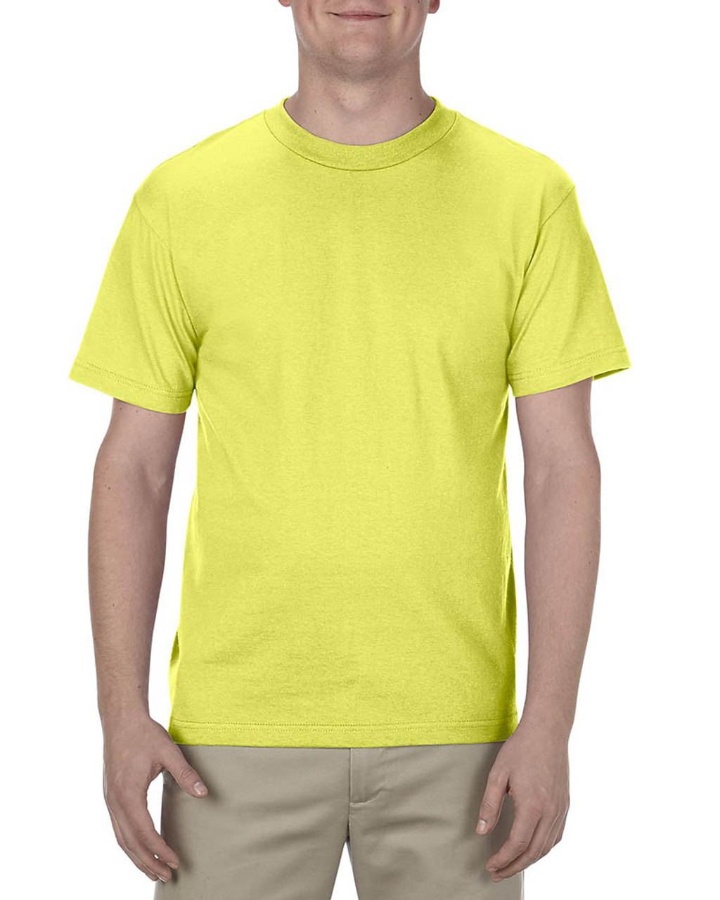 Safety Green - AL1301 Alstyle Adult 6.0 oz., 100% Cotton T-Shirt   BlankClothing.ca