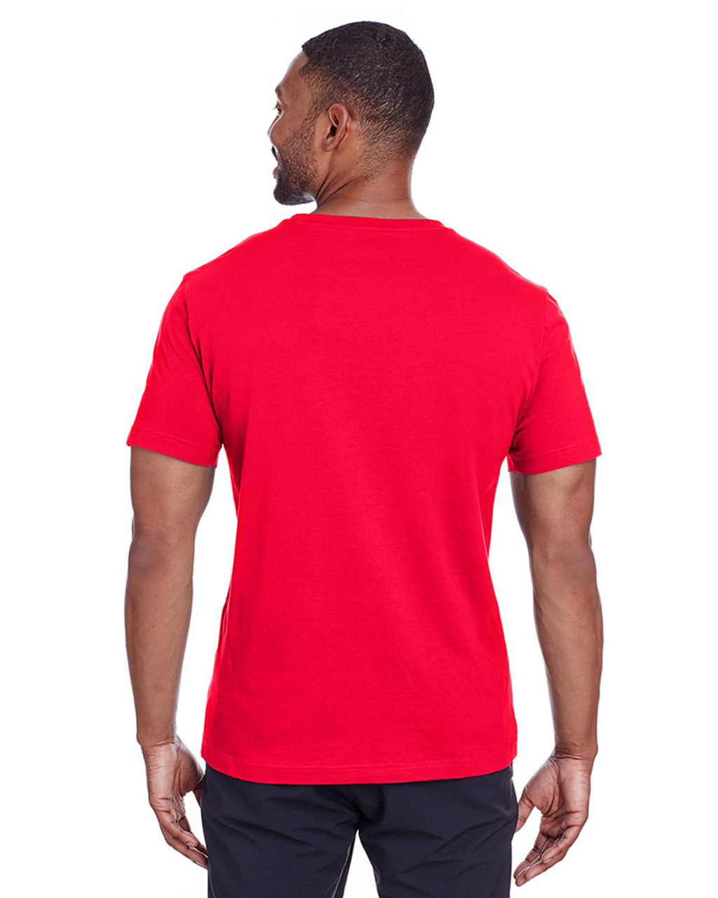 High Risk Red/Quiet Shade - back, 582006 Puma Sport Essential Adult Logo T-Shirt | BlankClothing