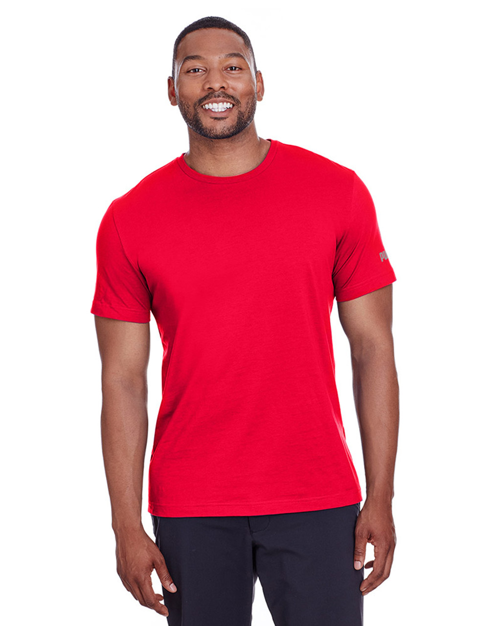 High Risk Red/Quiet Shade - 582006 Puma Sport Essential Adult Logo T-Shirt | BlankClothing