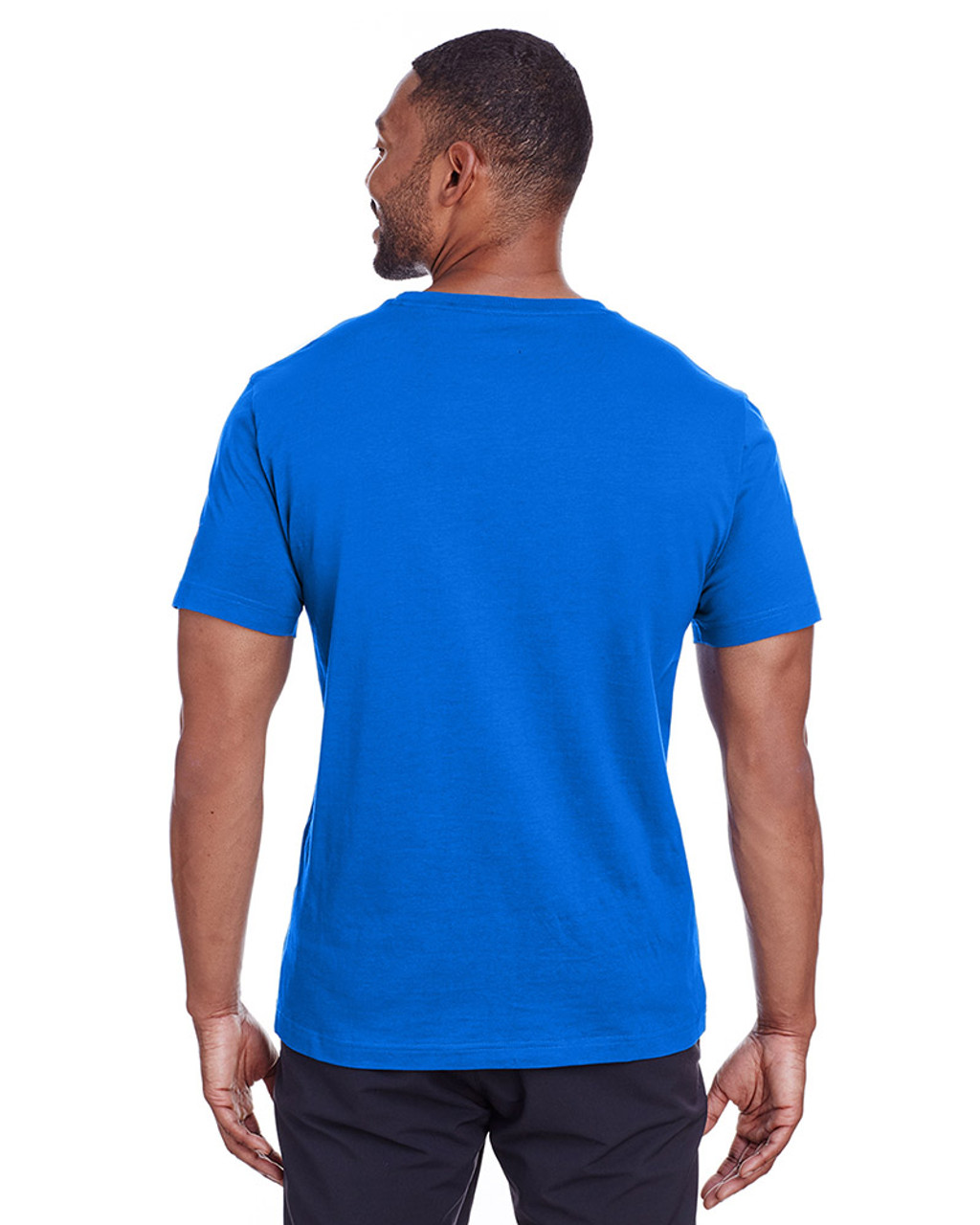 Lapis Blue/Quiet Shade - back, 582006 Puma Sport Essential Adult Logo T-Shirt | BlankClothing