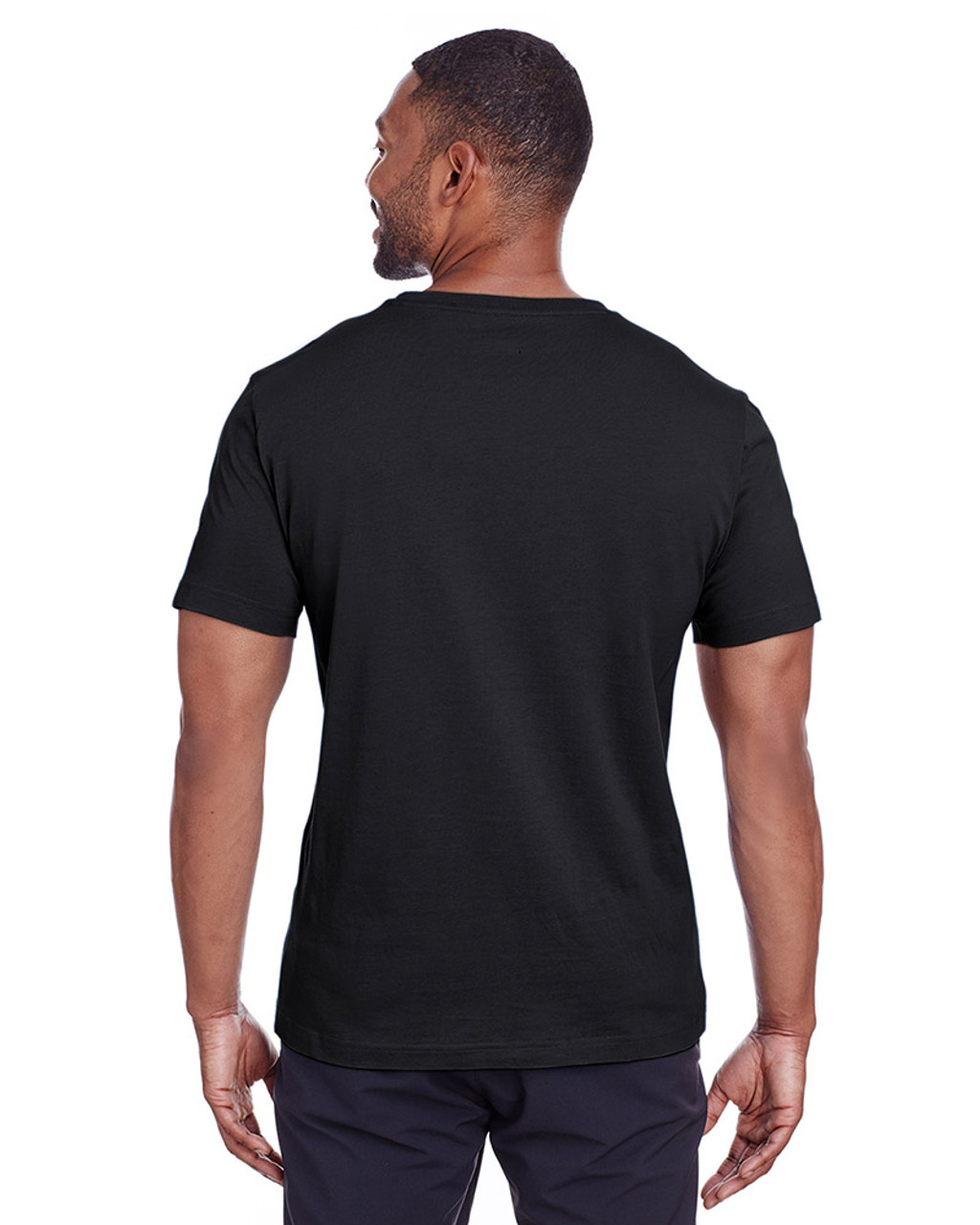 Puma Black/Quiet Shade - back, 582006 Puma Sport Essential Adult Logo T-Shirt | BlankClothing