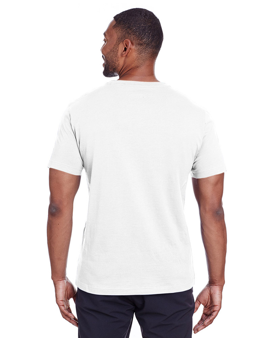 Puma White/Quiet Shade - back, 582006 Puma Sport Essential Adult Logo T-Shirt | BlankClothing