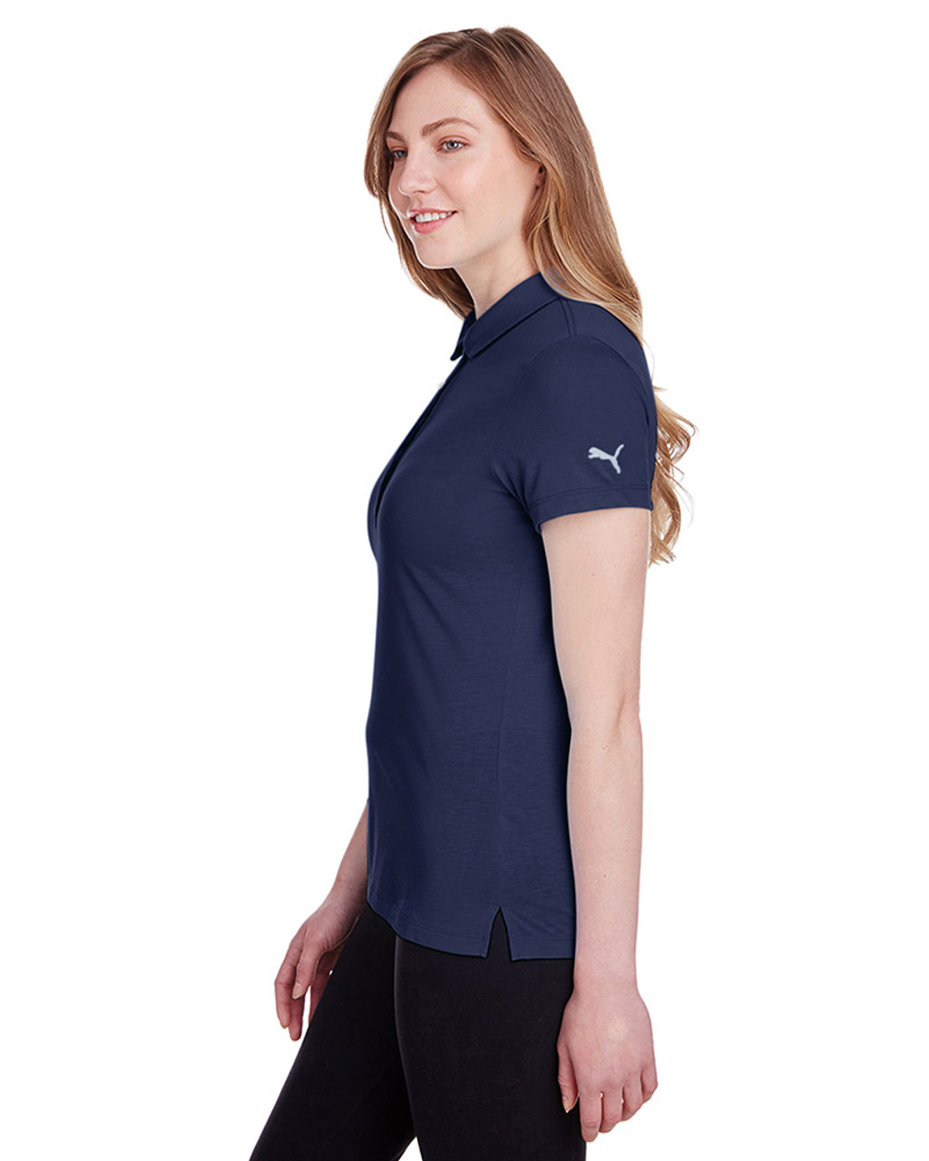 Peacoat - side, 596921 Puma Golf Ladies' Fusion Polo | Blankclothing.ca