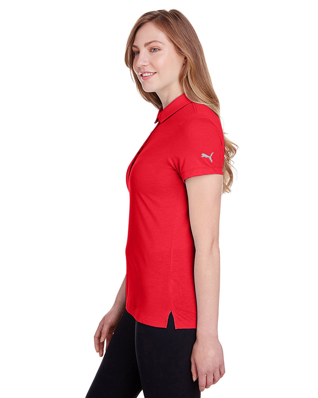 High Risk Red - side, 596921 Puma Golf Ladies' Fusion Polo | Blankclothing.ca