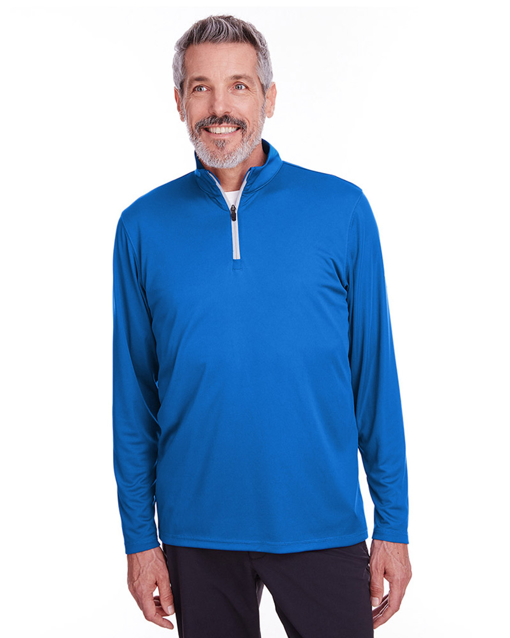 Lapis Blue - 596807 Puma Golf Men's Icon Quarter-Zip Shirt | Blankclothing.ca