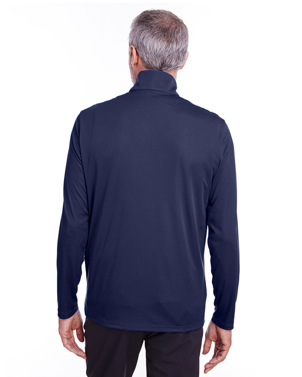 Peacoat - back, 596807 Puma Golf Men's Icon Quarter-Zip Shirt | Blankclothing.ca