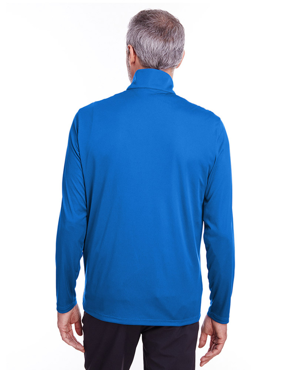 Lapis Blue - back, 596807 Puma Golf Men's Icon Quarter-Zip Shirt | Blankclothing.ca