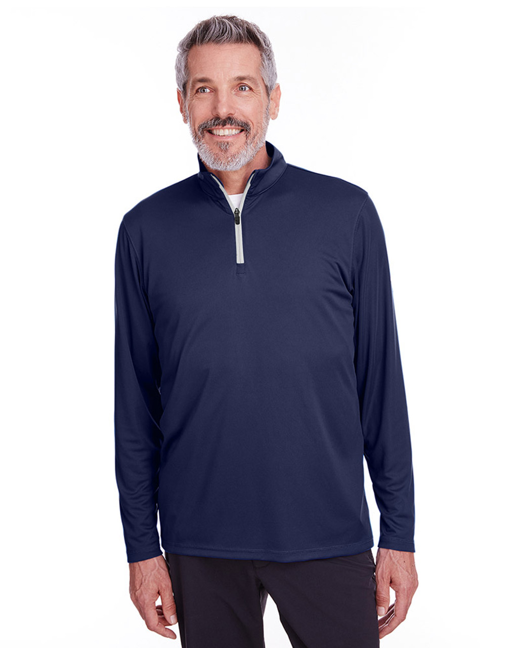 Peacoat - 596807 Puma Golf Men's Icon Quarter-Zip Shirt | Blankclothing.ca