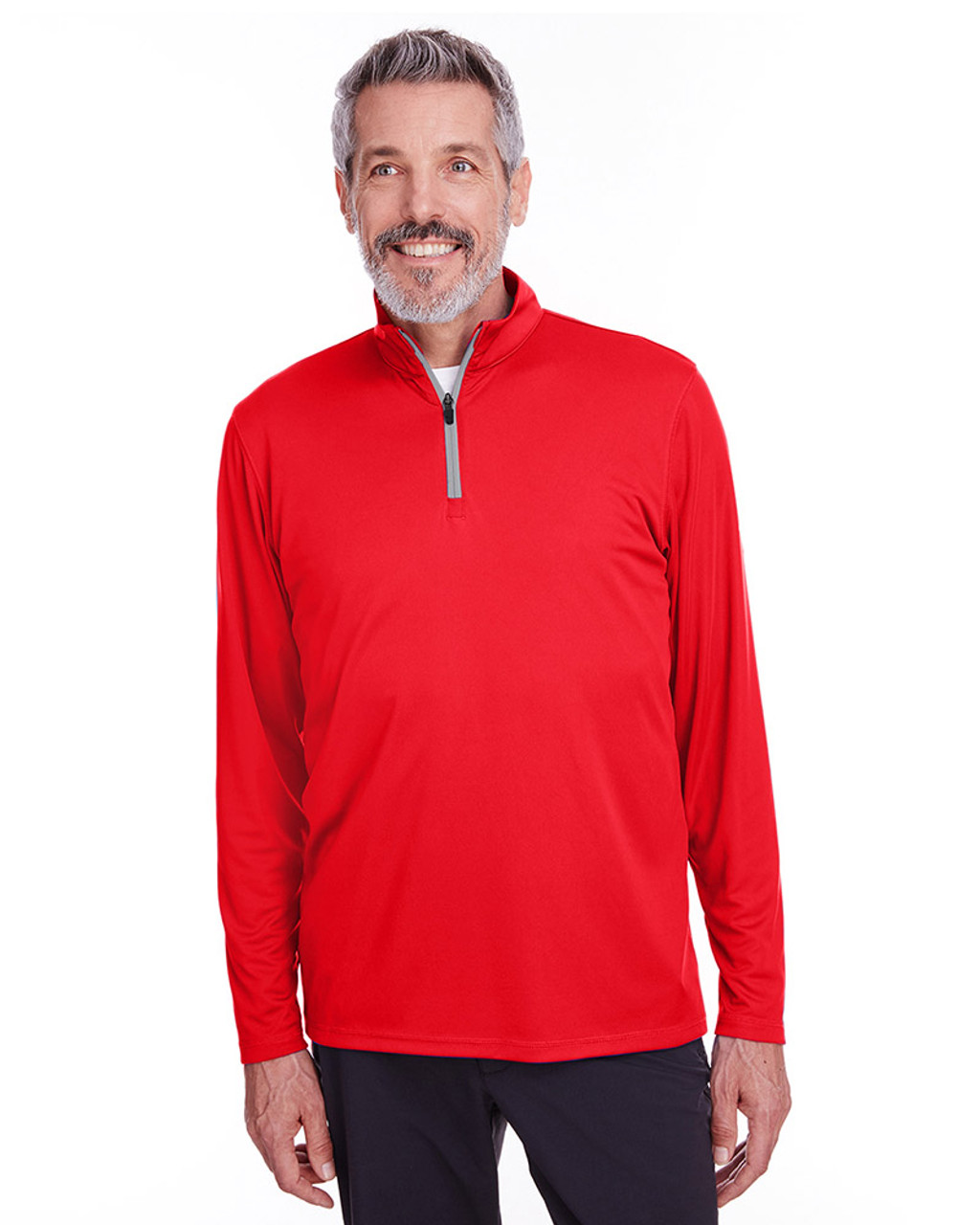 High Risk Red - 596807 Puma Golf Men's Icon Quarter-Zip Shirt | Blankclothing.ca