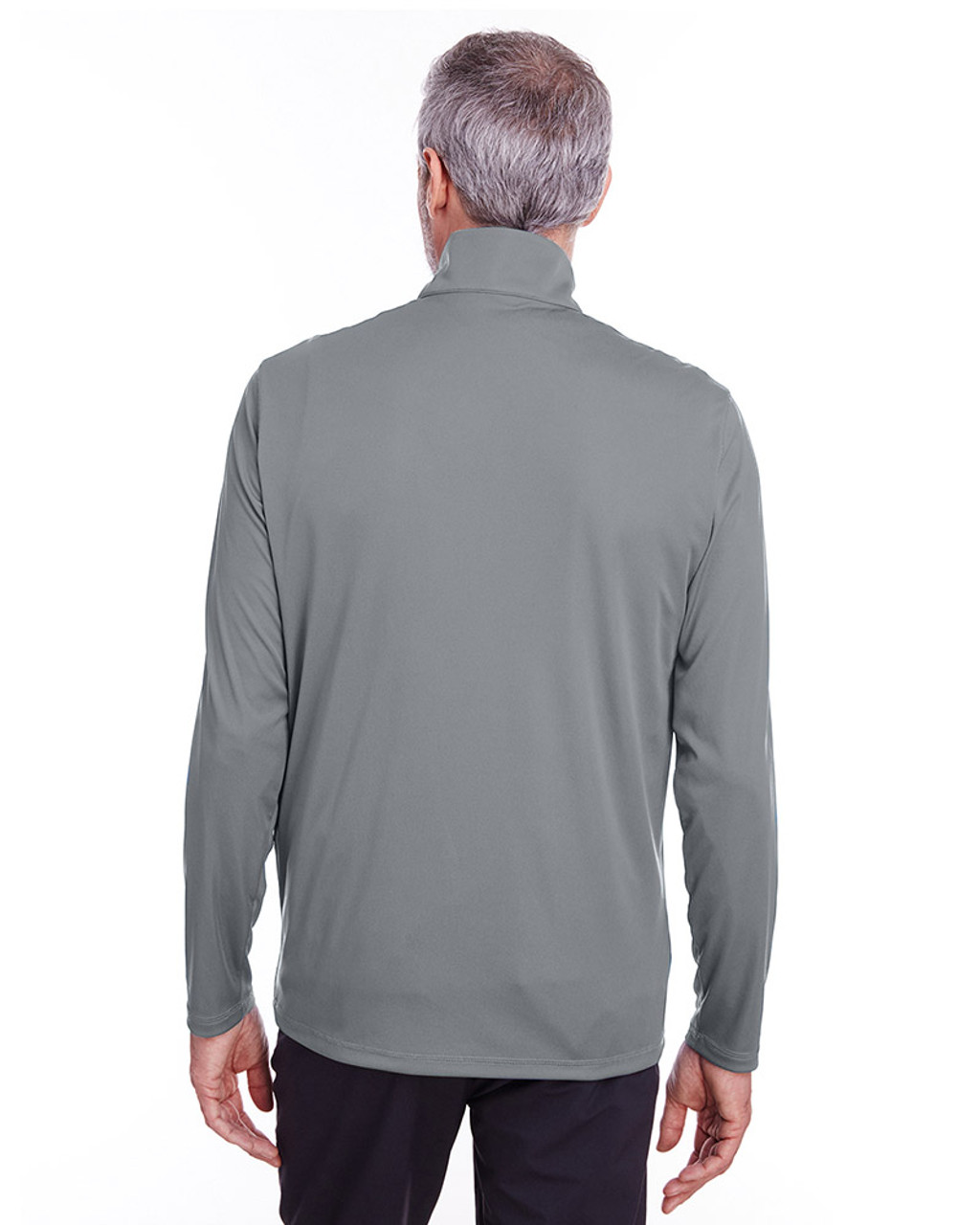 Quiet Shade - back, 596807 Puma Golf Men's Icon Quarter-Zip Shirt | Blankclothing.ca