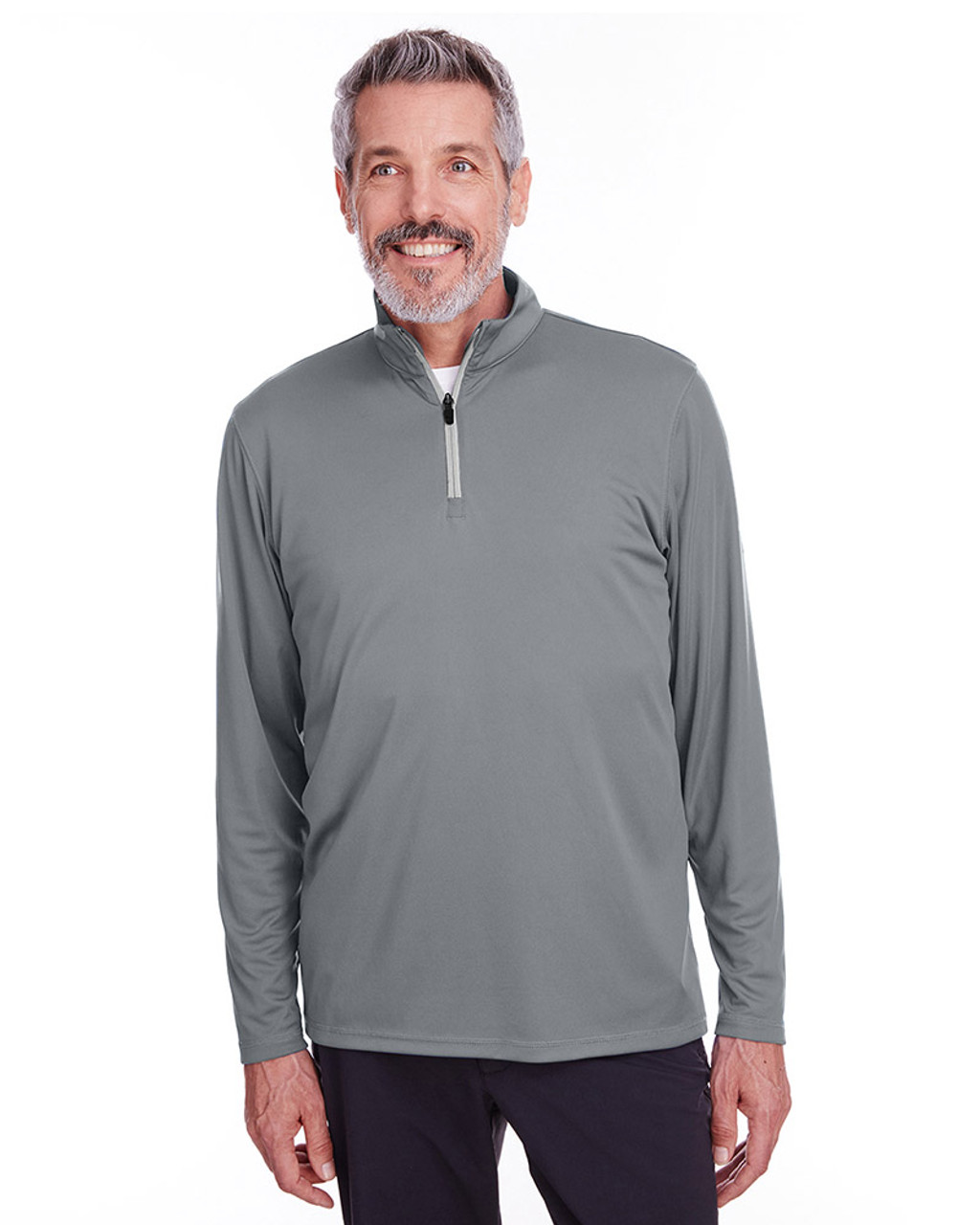 Quiet Shade - 596807 Puma Golf Men's Icon Quarter-Zip Shirt | Blankclothing.ca