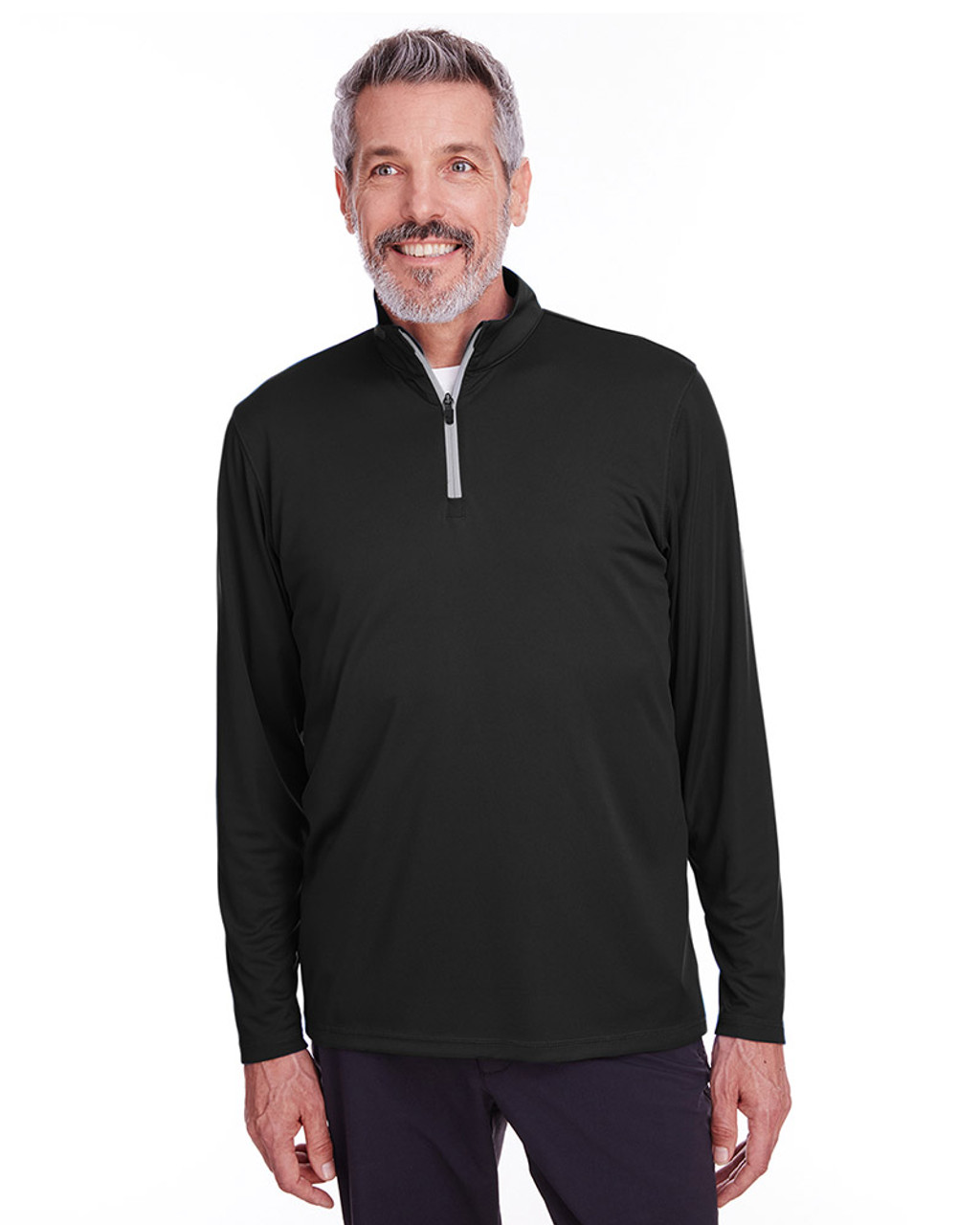 Puma Black - 596807 Puma Golf Men's Icon Quarter-Zip Shirt | Blankclothing.ca