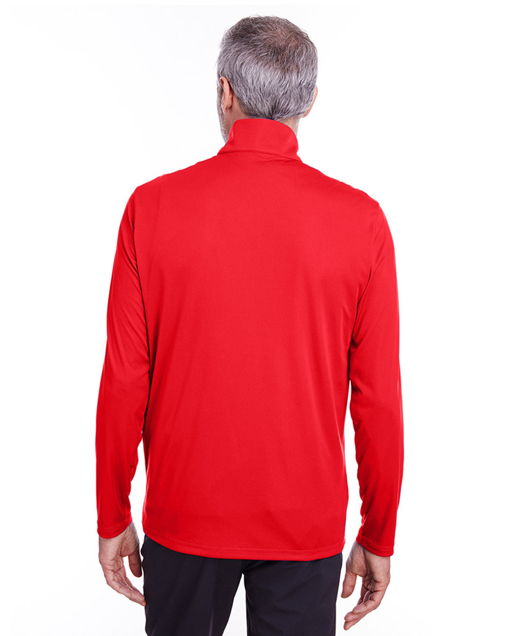 High Risk Red - back, 596807 Puma Golf Men's Icon Quarter-Zip Shirt | Blankclothing.ca