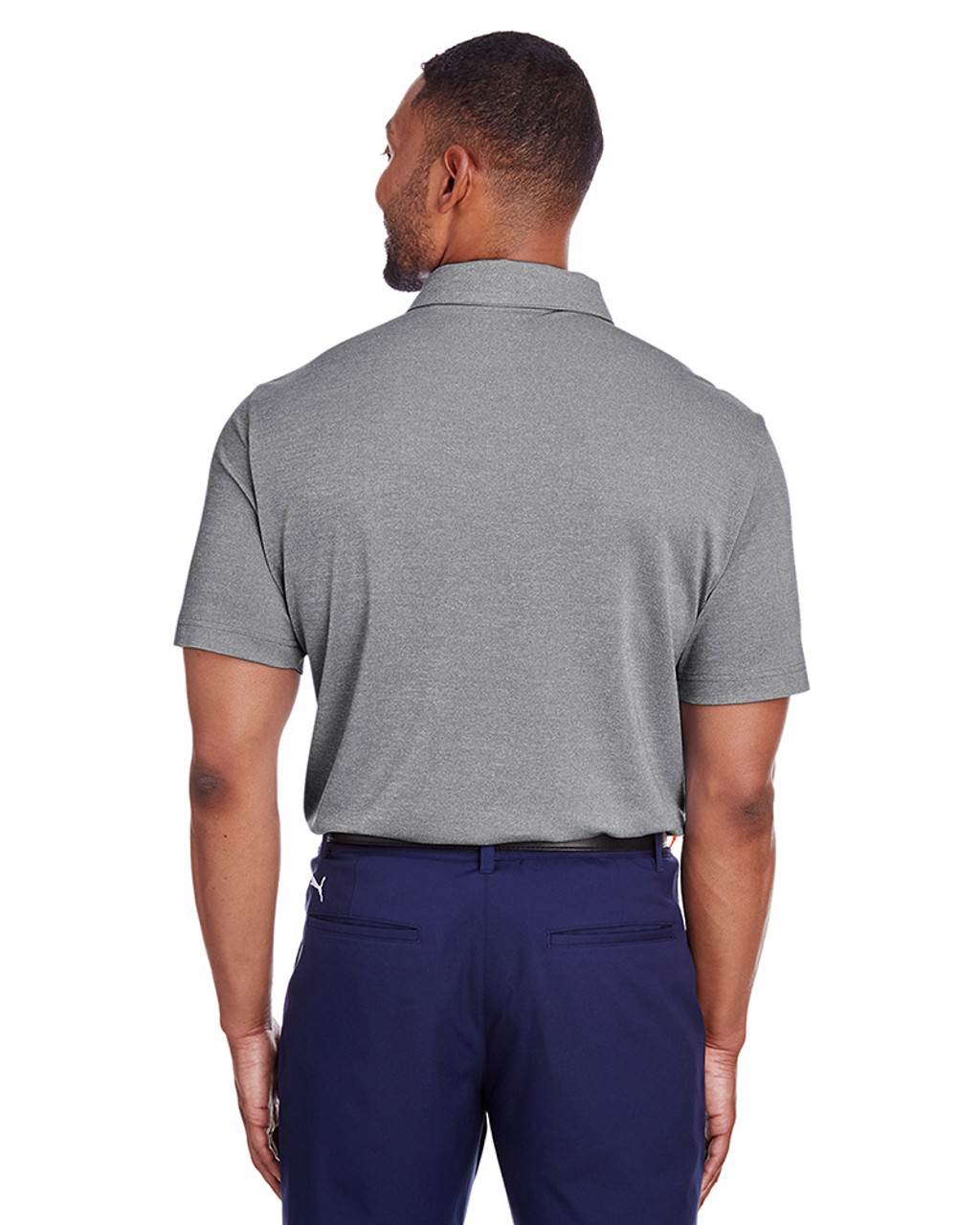 Puma Black Heather - back, 597220 Puma Golf Men's Grill-To-Green Polo | Blankclothing.ca