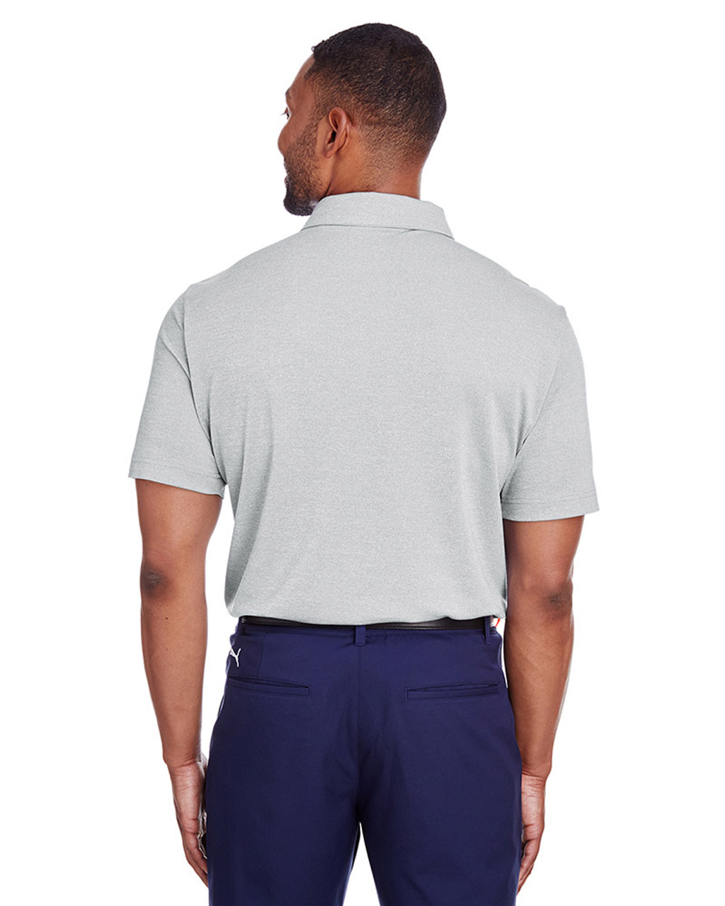 Quarry Heather - back, 597220 Puma Golf Men's Grill-To-Green Polo | Blankclothing.ca