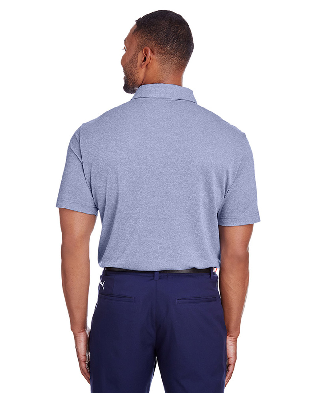 Surf The Web Heather - back, 597220 Puma Golf Men's Grill-To-Green Polo | Blankclothing.ca