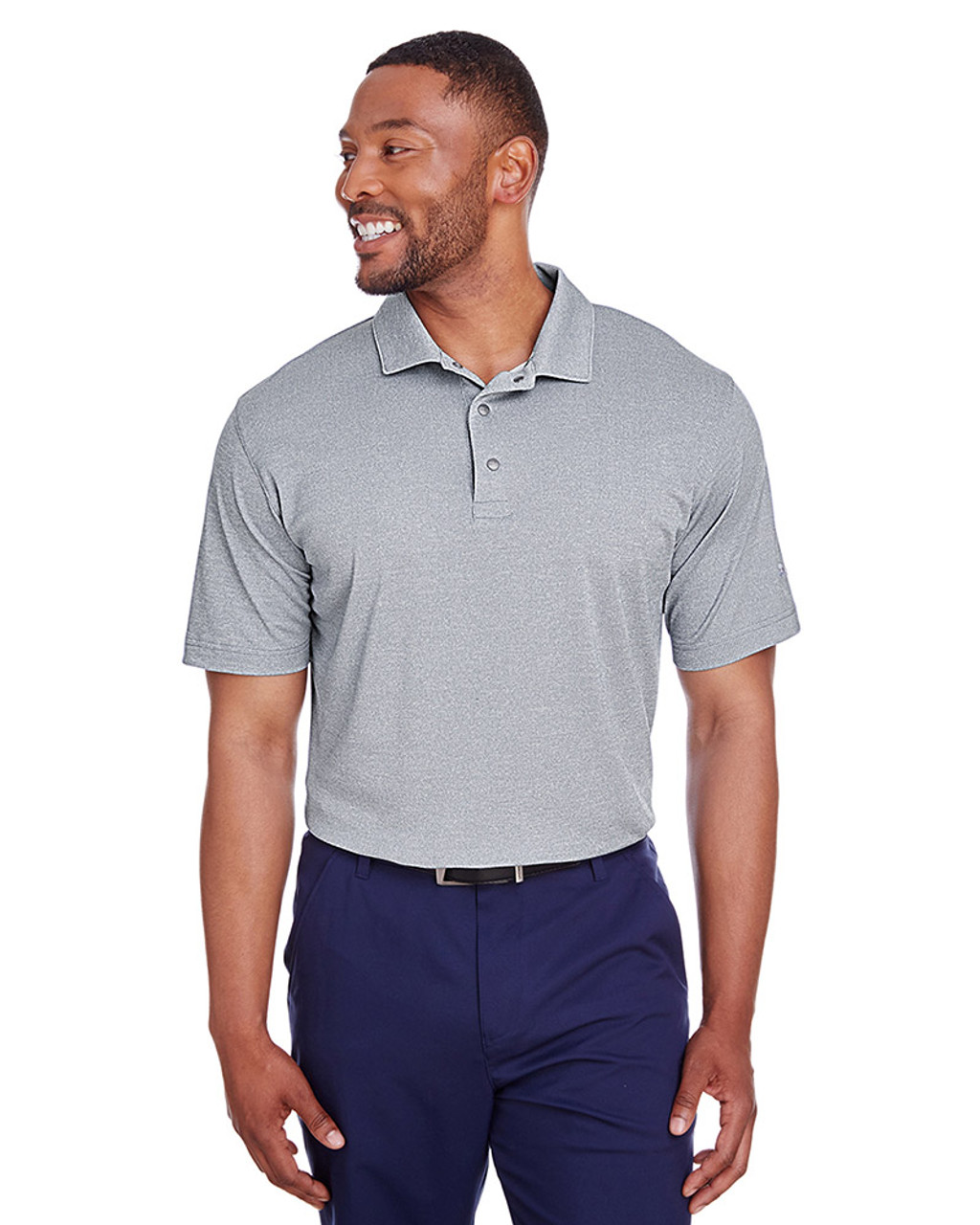 Peacoat Heather - 597220 Puma Golf Men's Grill-To-Green Polo | Blankclothing.ca