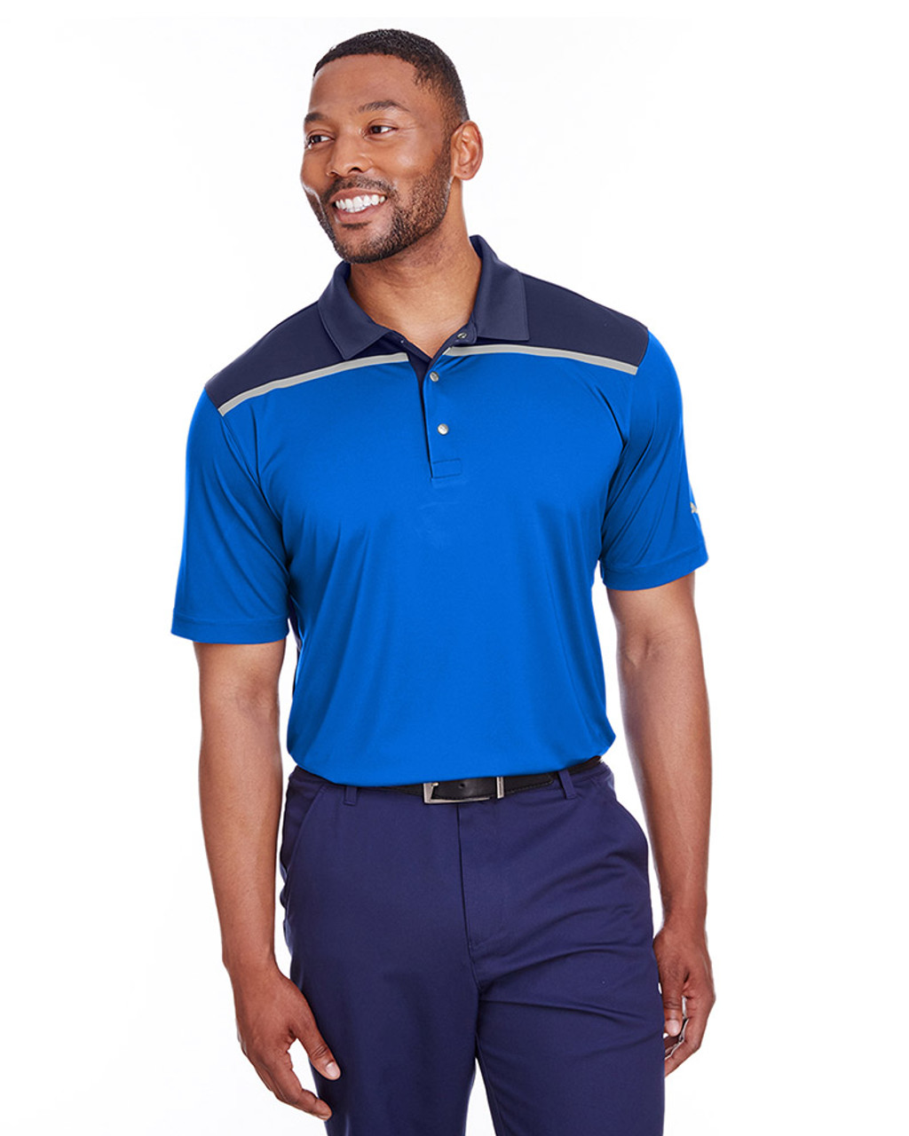 Lapis Blue/Peacoat - 596805 Puma Golf Men's Bonded Colorblock Polo | Blankclothing.ca
