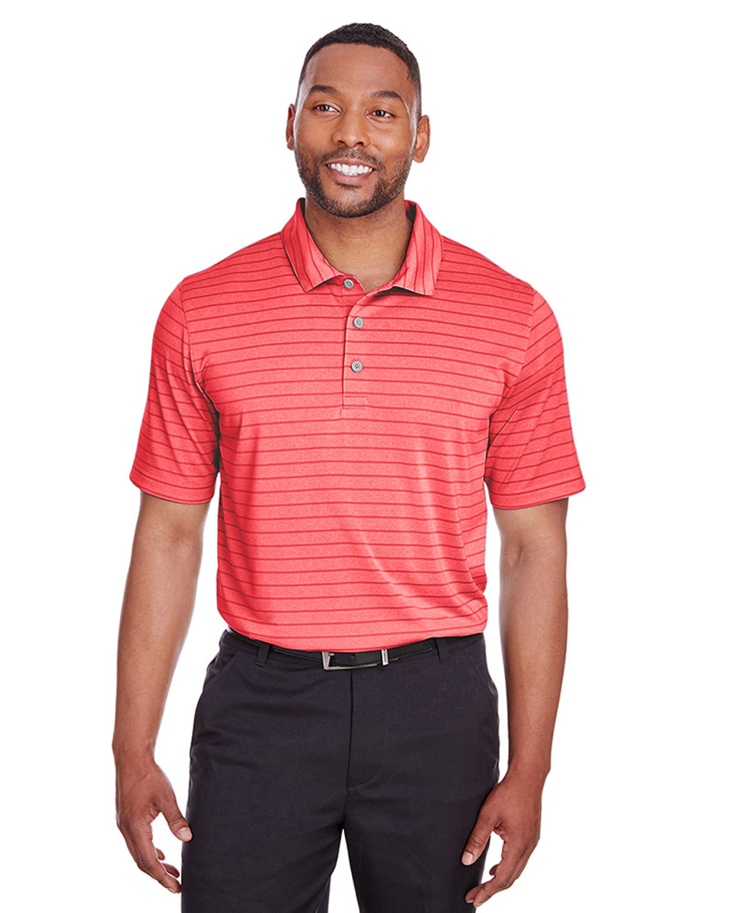 High Risk Red - 597223 Puma Golf Men's Rotation Stripe Polo | Blankclothing.ca