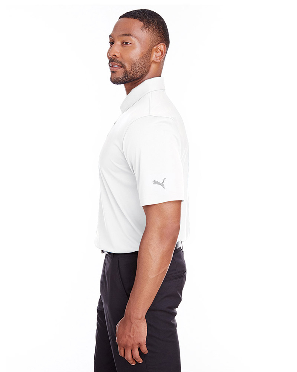 Bright White - side, 596799 Puma Golf Men's Icon Golf Polo | Blankclothing.ca