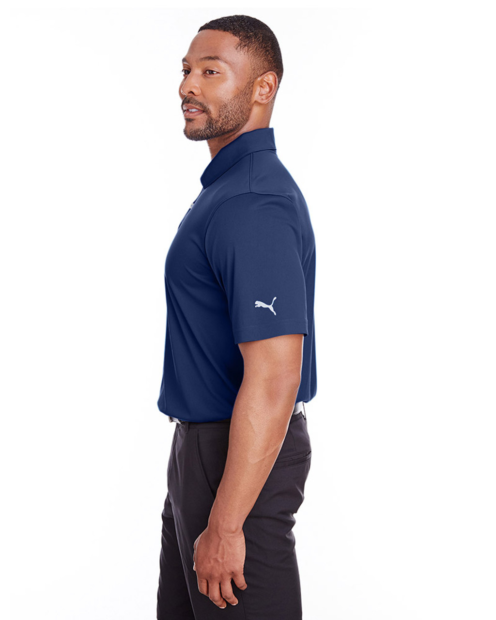 Peacoat - side, 596799 Puma Golf Men's Icon Golf Polo | Blankclothing.ca