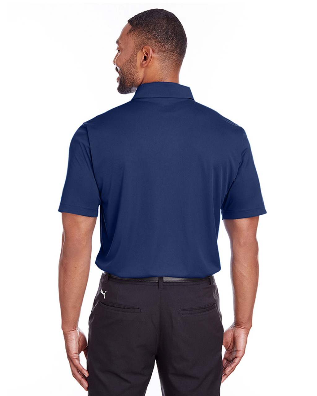 Peacoat - back, 596799 Puma Golf Men's Icon Golf Polo | Blankclothing.ca