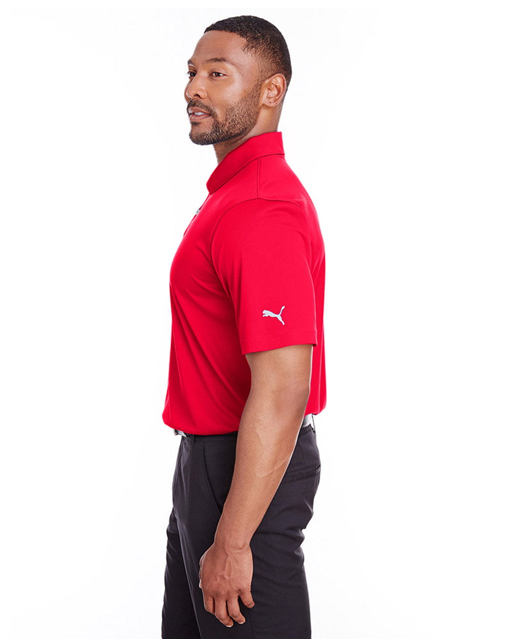High Risk Red - side, 596799 Puma Golf Men's Icon Golf Polo | Blankclothing.ca