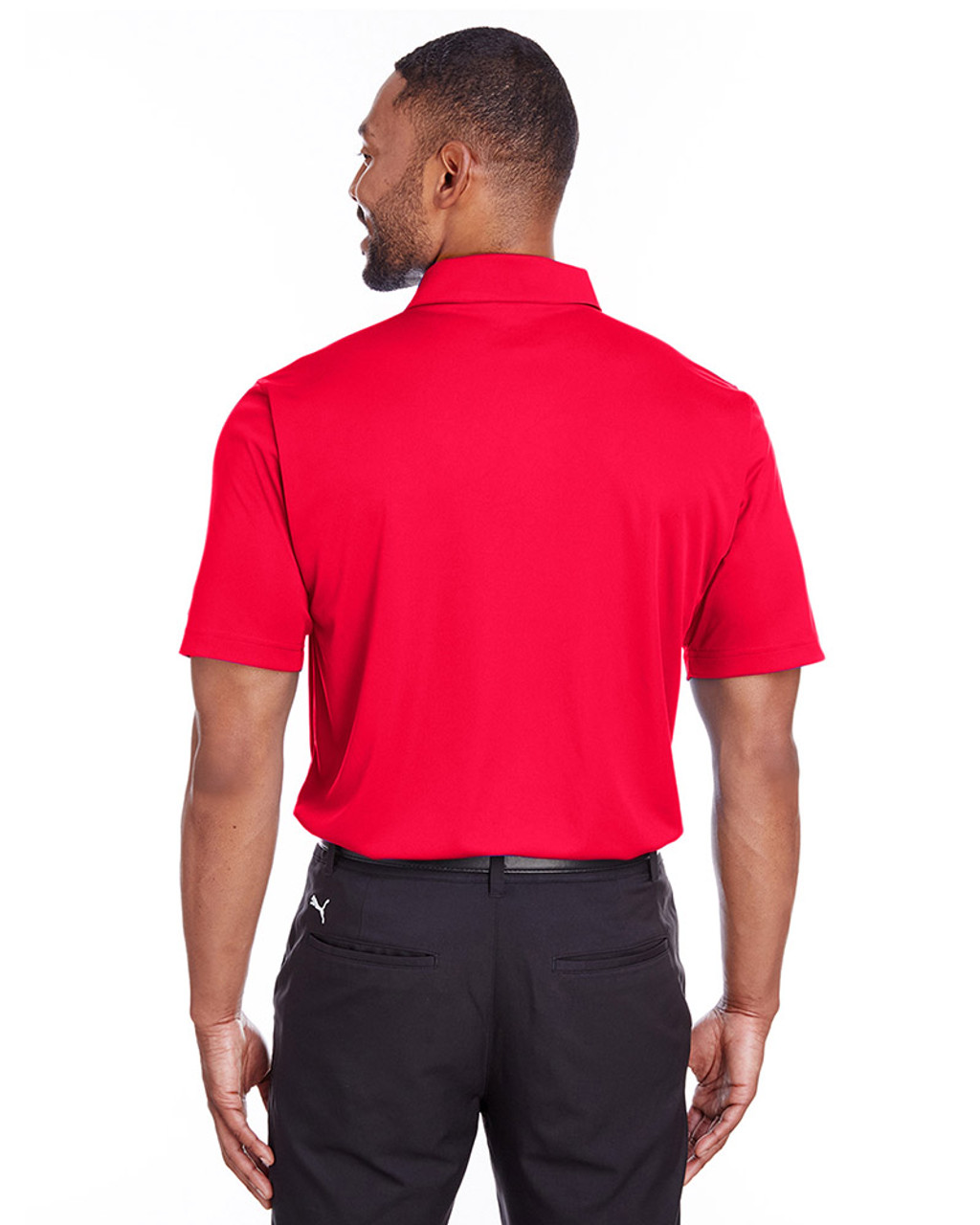 High Risk Red - back, 596799 Puma Golf Men's Icon Golf Polo | Blankclothing.ca