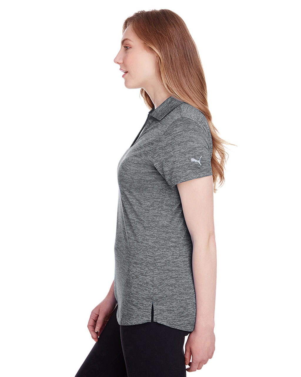 Quiet Shade - side, 596802 Puma Golf Ladies' Icon Heather Polo | Blankclothing.ca
