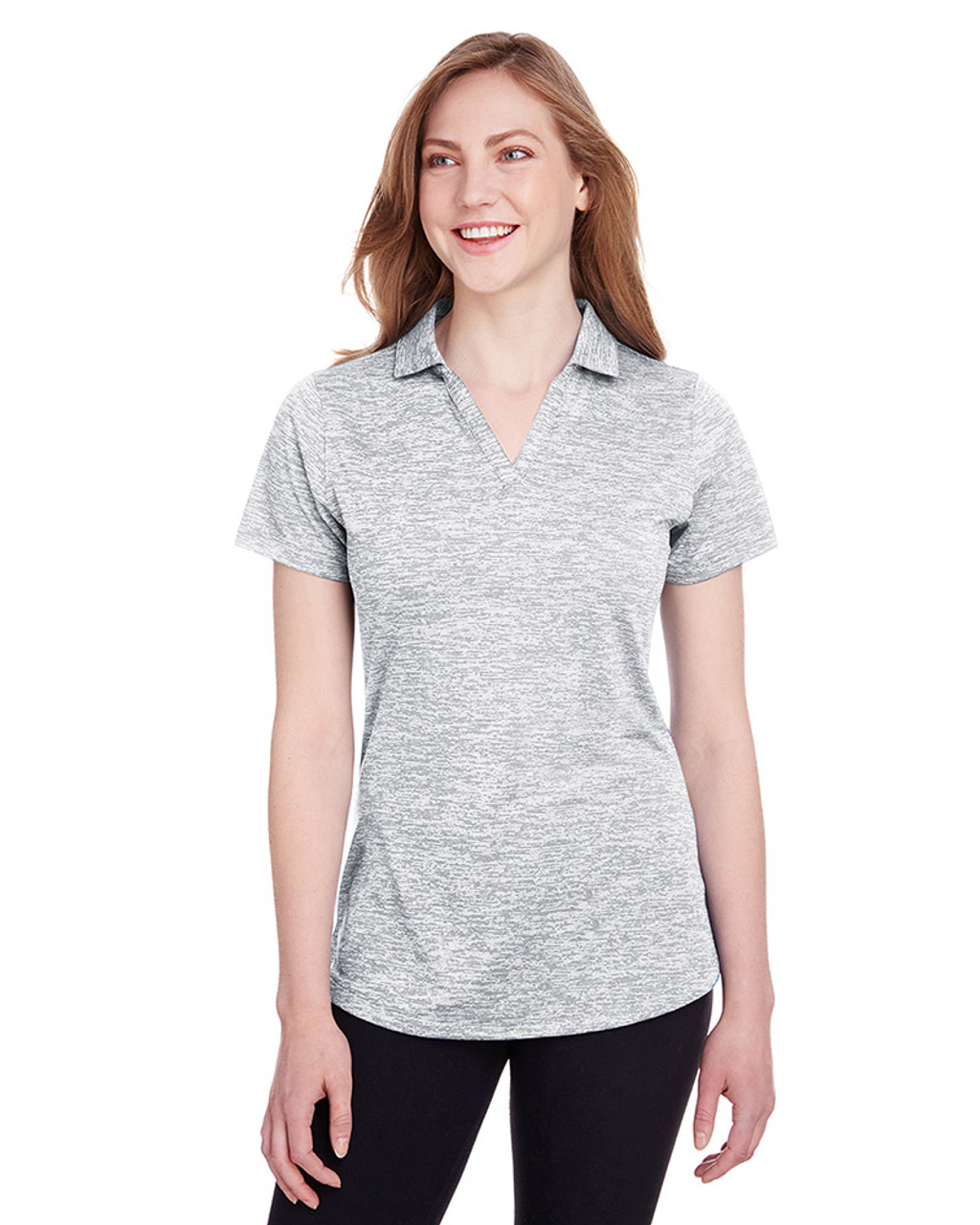 Bright White - 596802 Puma Golf Ladies' Icon Heather Polo | Blankclothing.ca