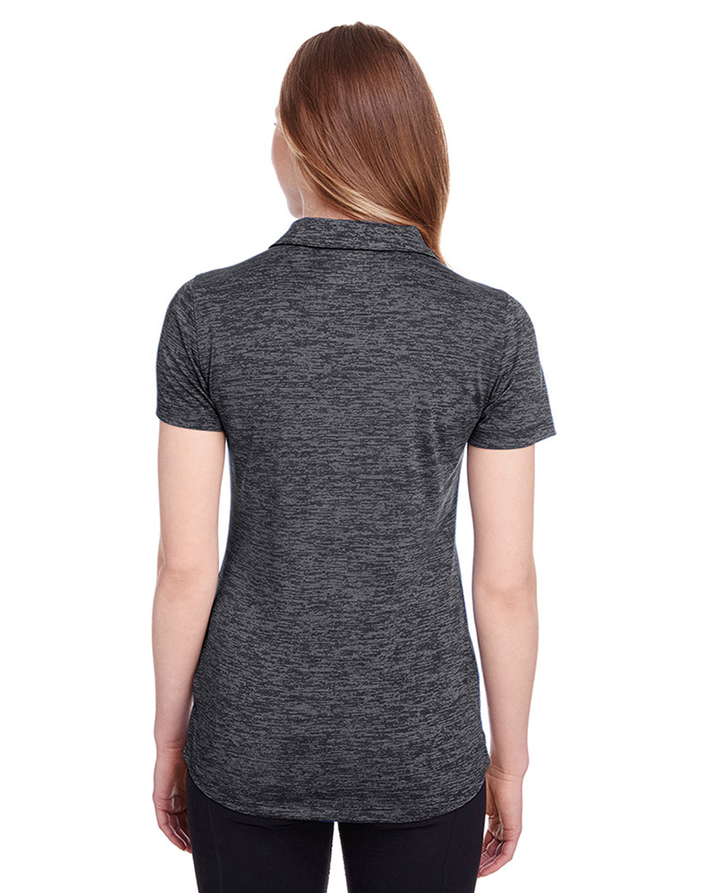 Puma Black - back, 596802 Puma Golf Ladies' Icon Heather Polo | Blankclothing.ca