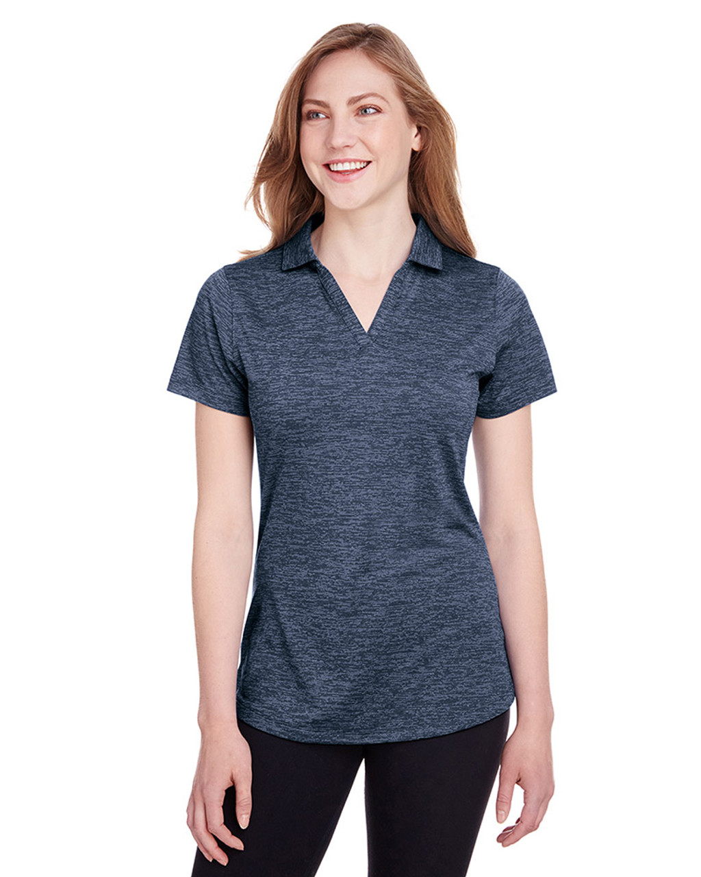 Peacoat - 596802 Puma Golf Ladies' Icon Heather Polo | Blankclothing.ca