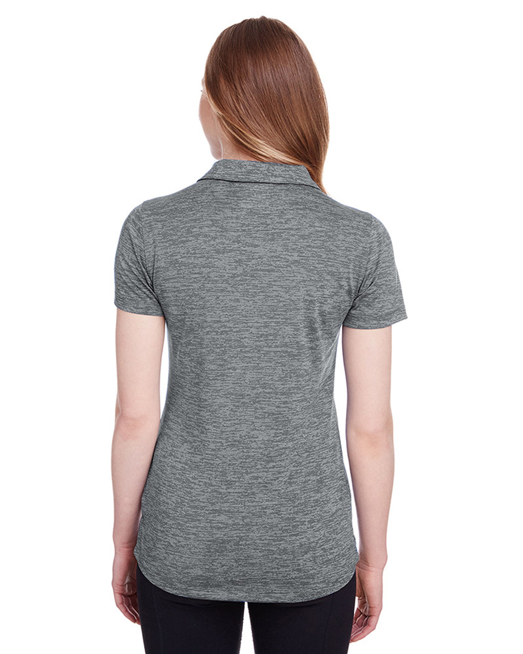 Quiet Shade - back, 596802 Puma Golf Ladies' Icon Heather Polo | Blankclothing.ca