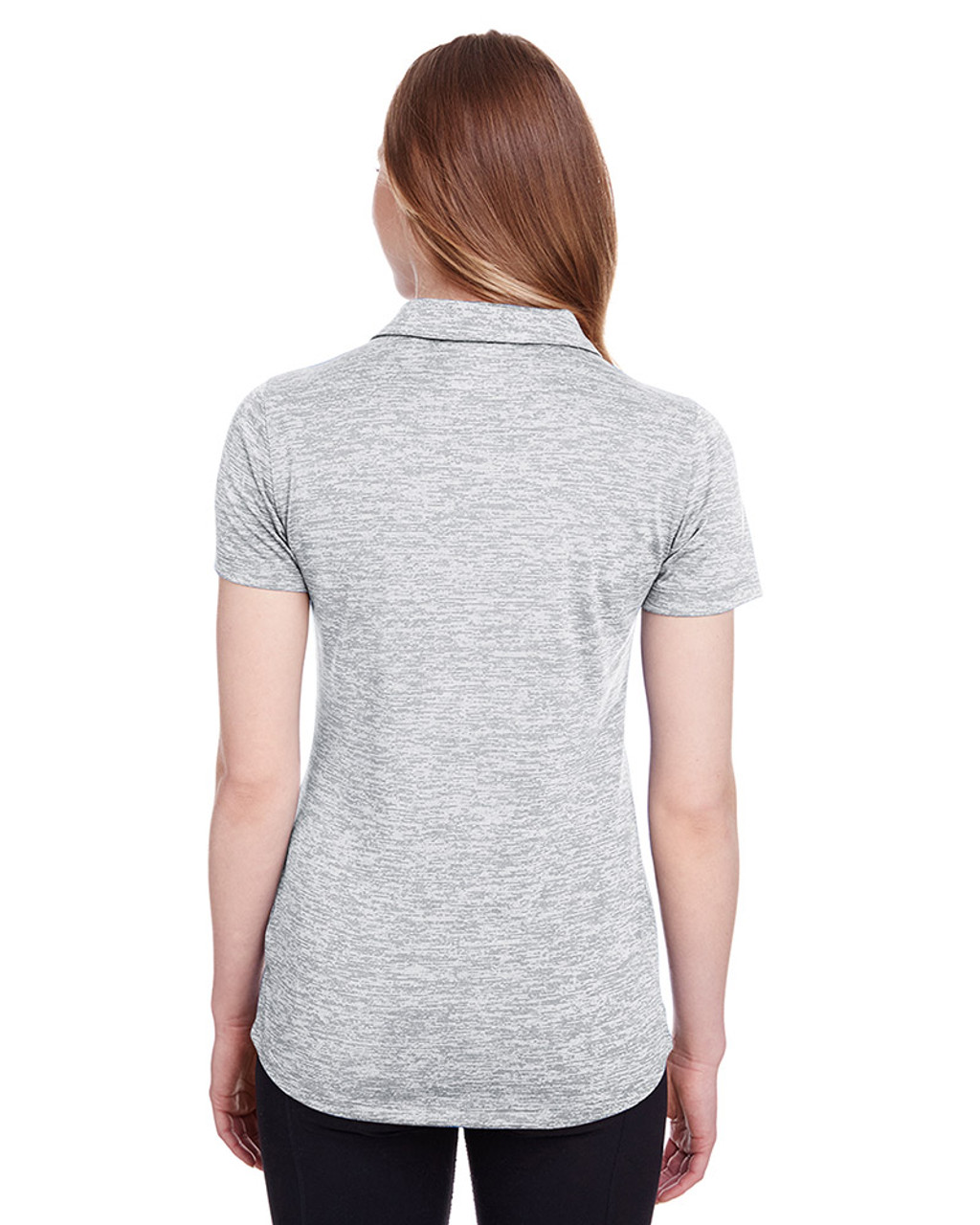 Bright White - back, 596802 Puma Golf Ladies' Icon Heather Polo | Blankclothing.ca