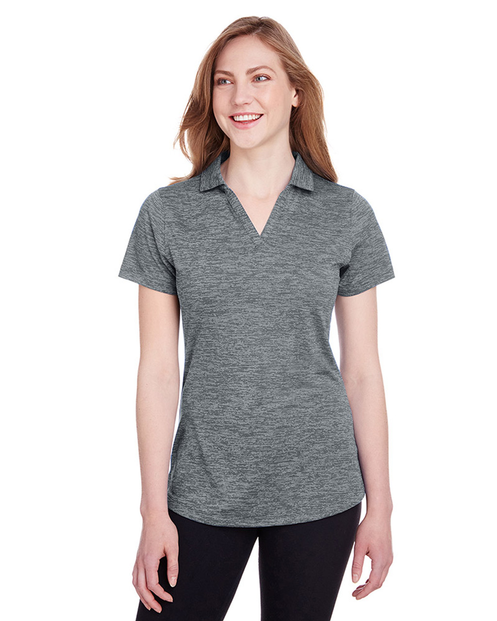 Quiet Shade - 596802 Puma Golf Ladies' Icon Heather Polo | Blankclothing.ca