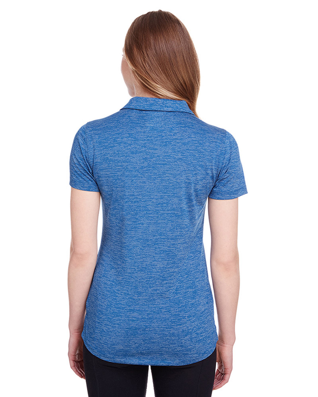 Lapis Blue - back, 596802 Puma Golf Ladies' Icon Heather Polo | Blankclothing.ca