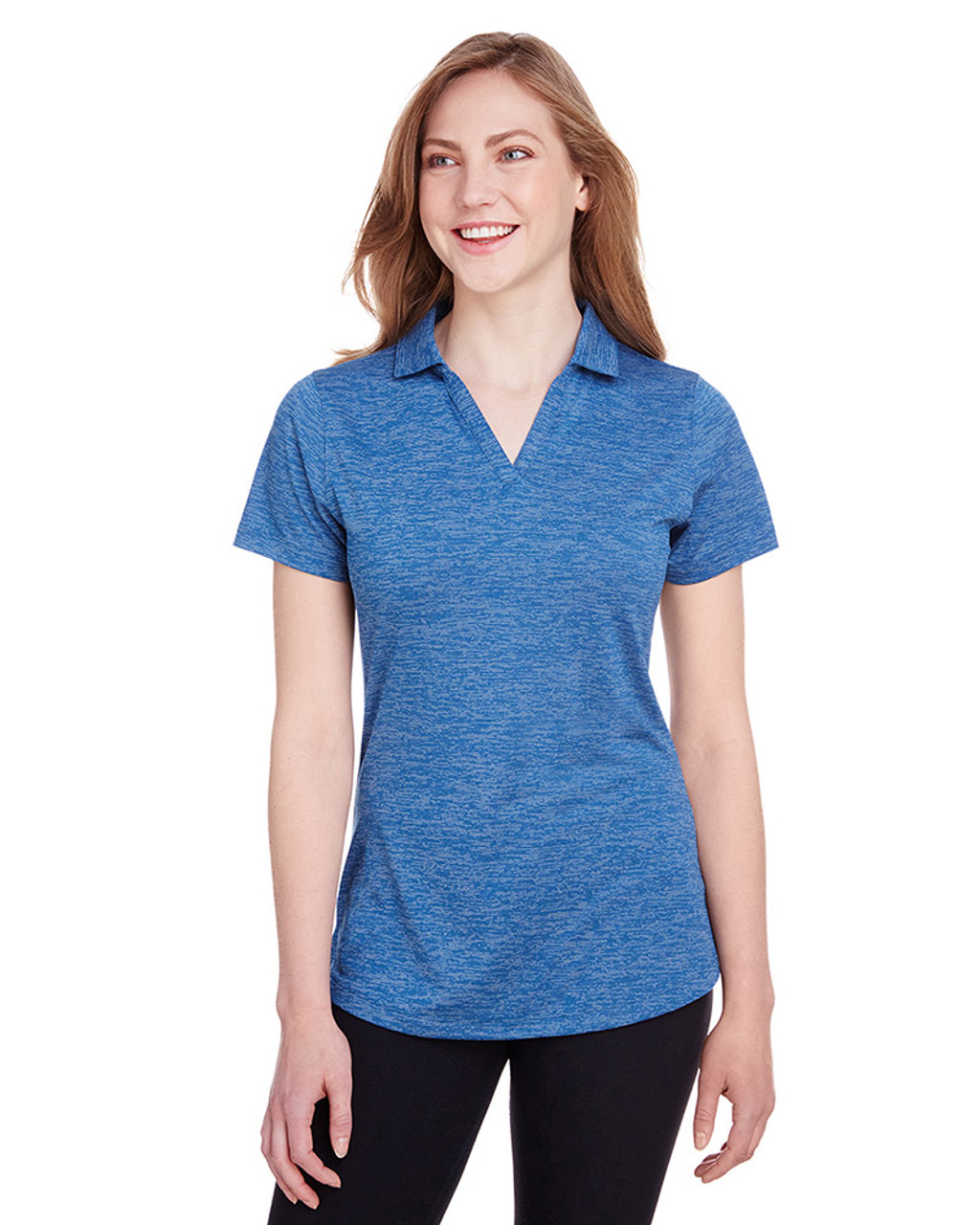 Lapis Blue - 596802 Puma Golf Ladies' Icon Heather Polo | Blankclothing.ca