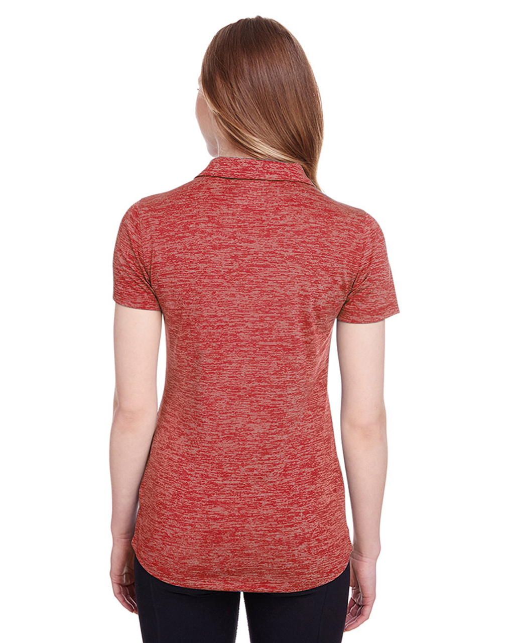 High Risk Red - back, 596802 Puma Golf Ladies' Icon Heather Polo | Blankclothing.ca