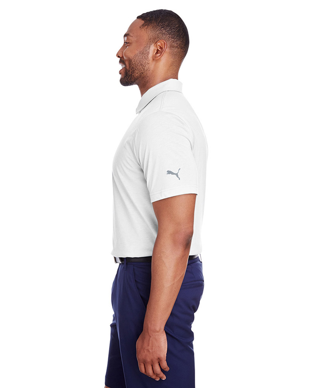 Bright White - side, 596920 Puma Golf Men's Fusion Polo | Blankclothing.ca